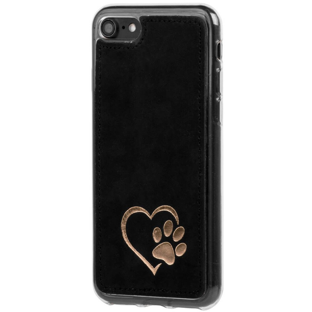 Back case - Nubuck Black - Heart with paw