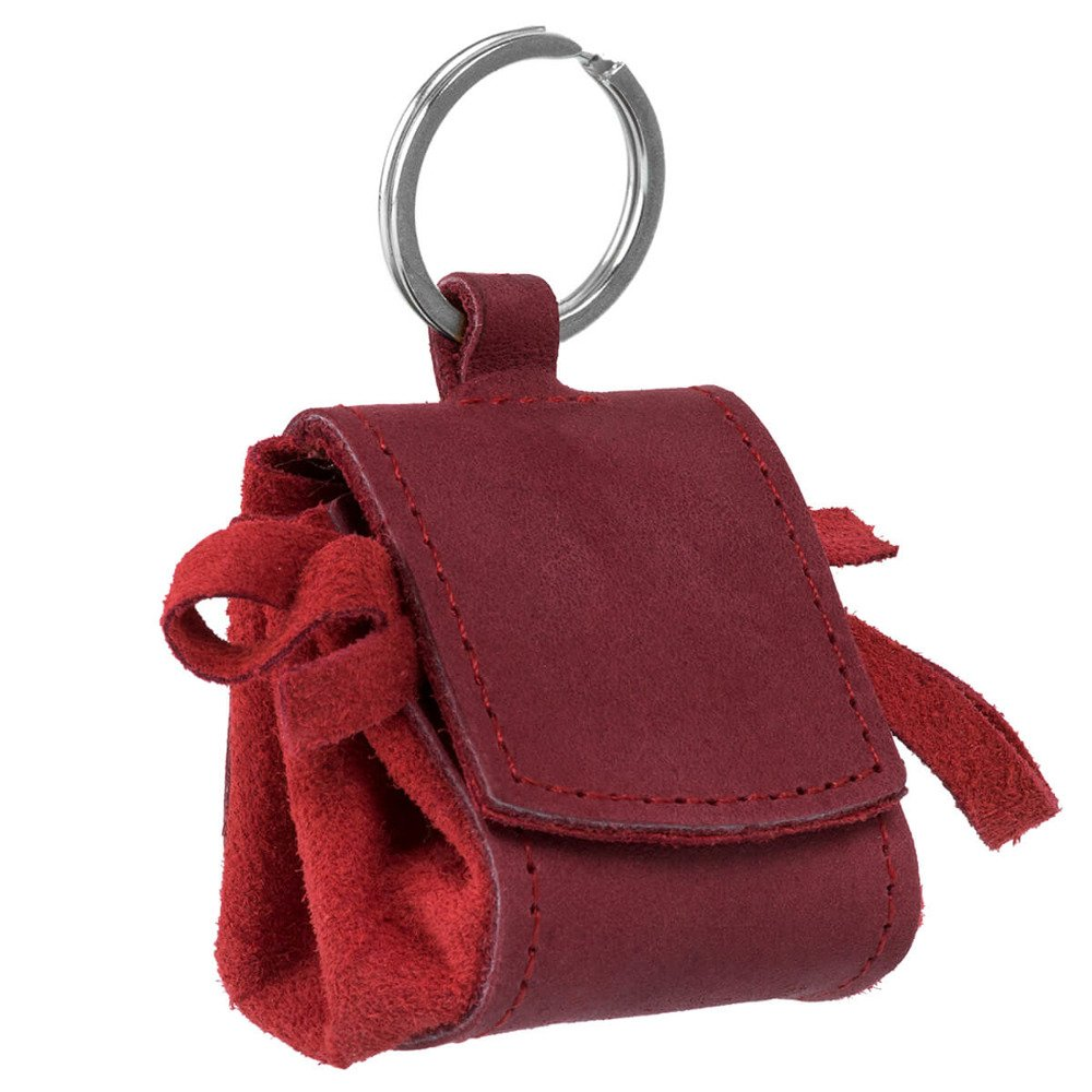 Coin Pouch - Nubuck Red