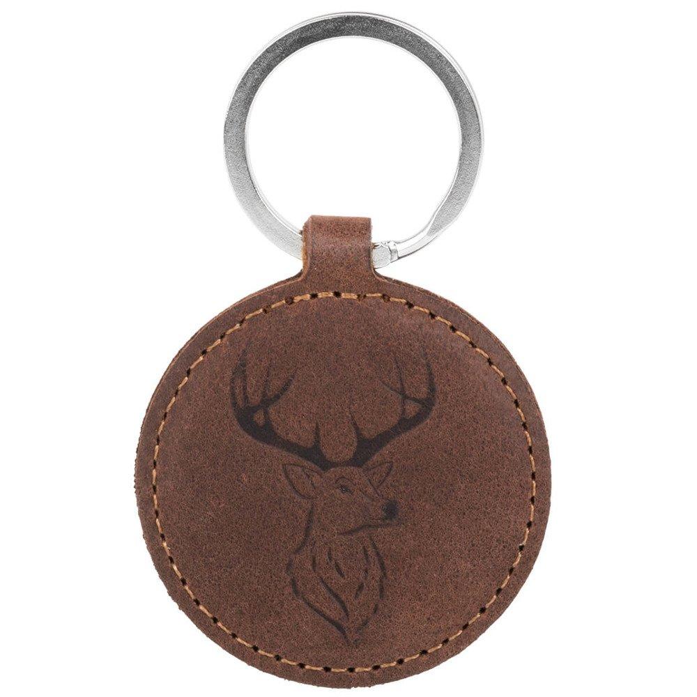 Keychain - Nubuck Nut Brown - Deer