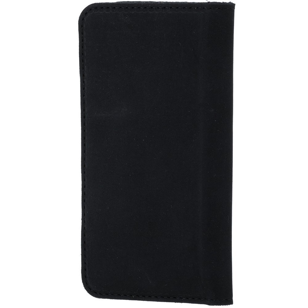 Vertical case for cards, documents and business cards - Nubuk Black