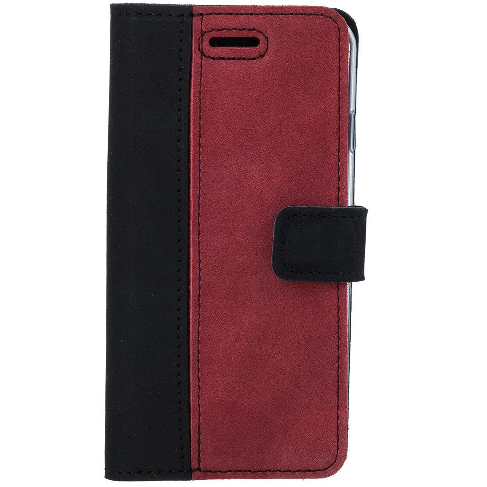 Wallet case - Nubuck Black and Red