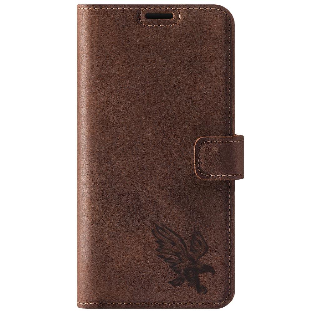 Wallet case - Nubuck Nut brown - Eagle