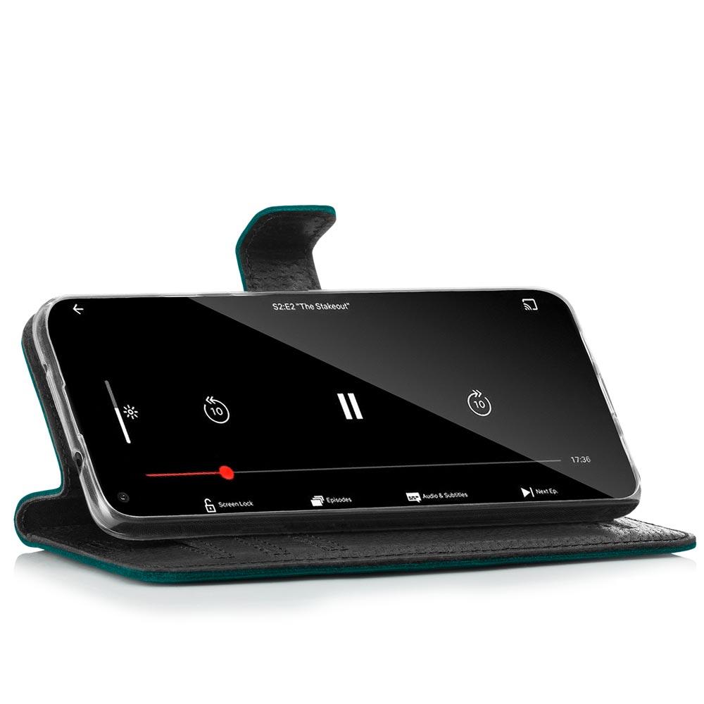 Wallet case - Nubuck Turquoise