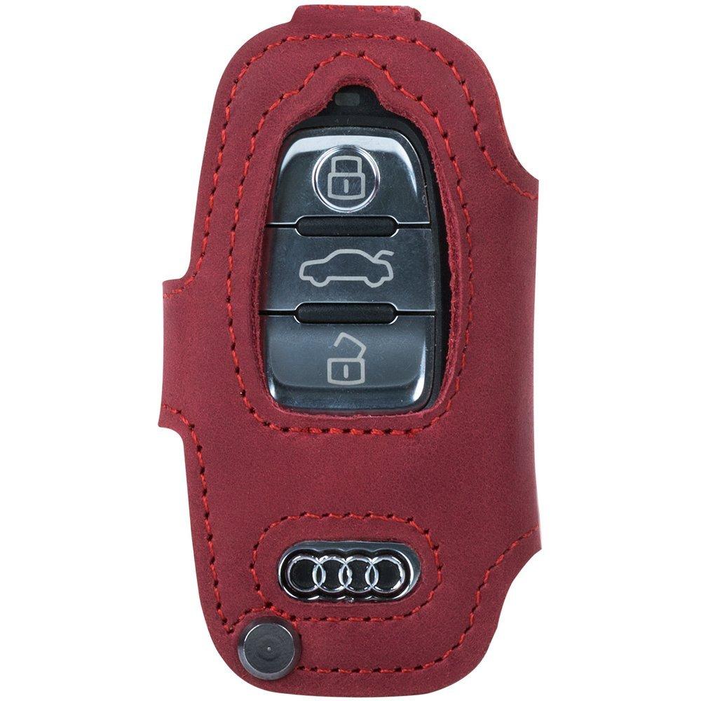Autoschlüsseletui (Fernbedienung) für das Auto - Nubuk Rot