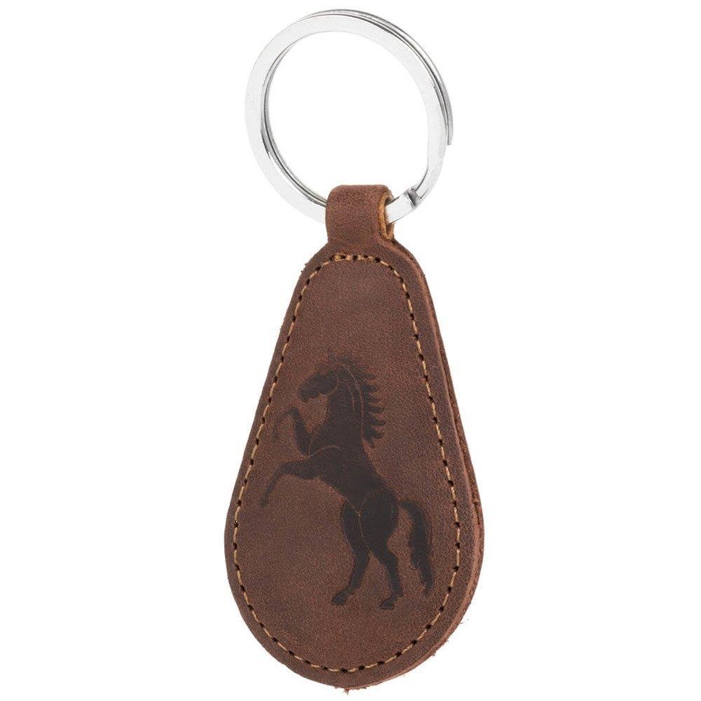 Gürtel Hülle - Nubuk Nussbraun - Pferd