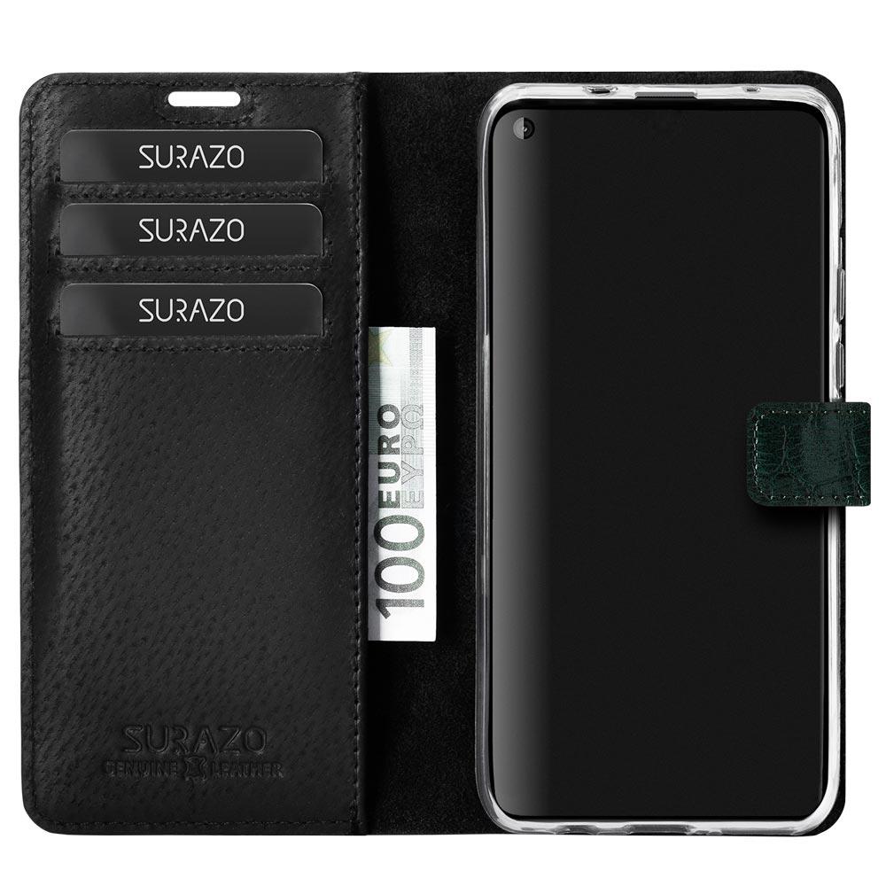 Wallet case - Cayme Grün