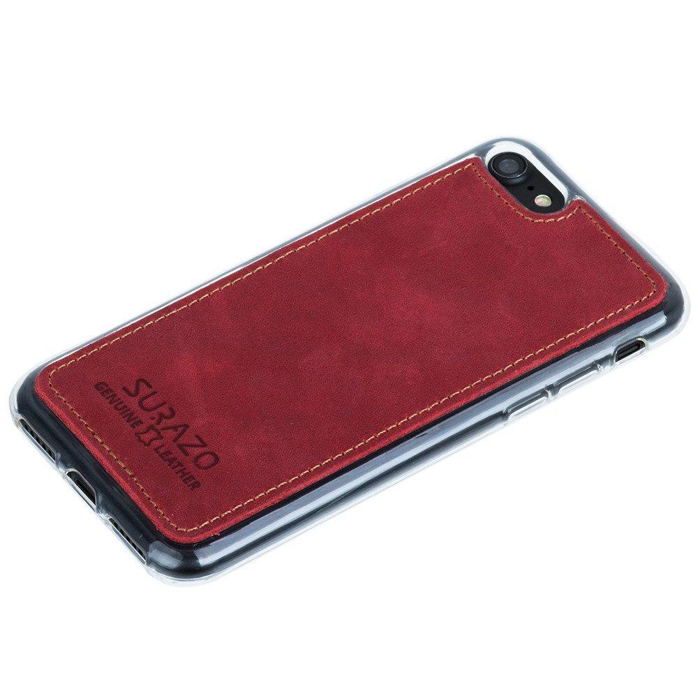 Back case - Nubuk Czerwony
