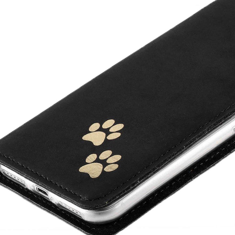 Smart magnet RFID - Nubuk Czarny - Dwie łapy