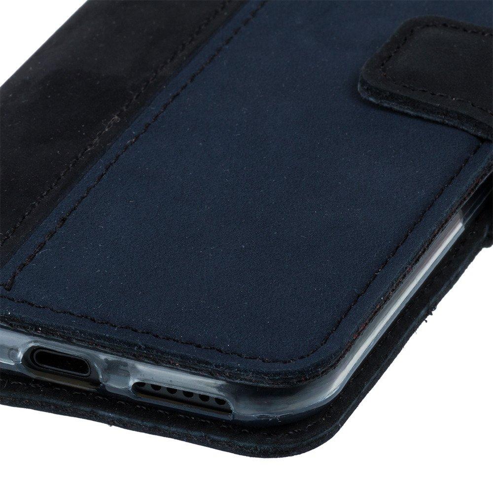 Wallet case - Nubuk Czarny i Granatowy