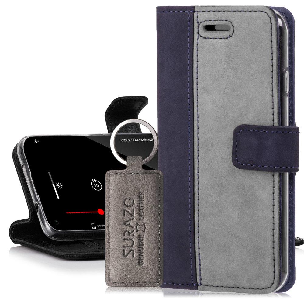 Wallet case - Nubuk Granatowy i Szary